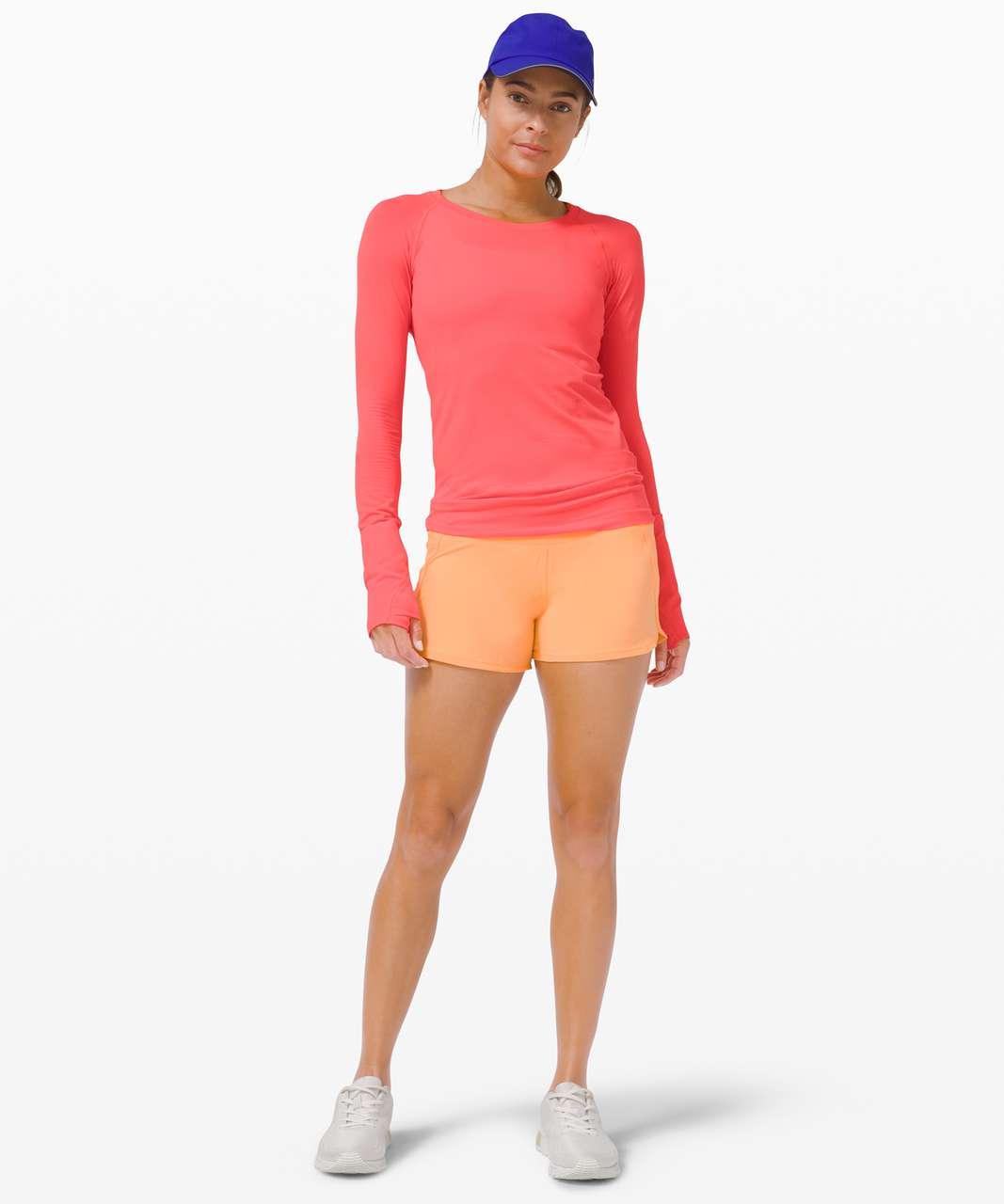 "Lululemon Run Times Short 4"" *SeaWheeze - Florid Orange"