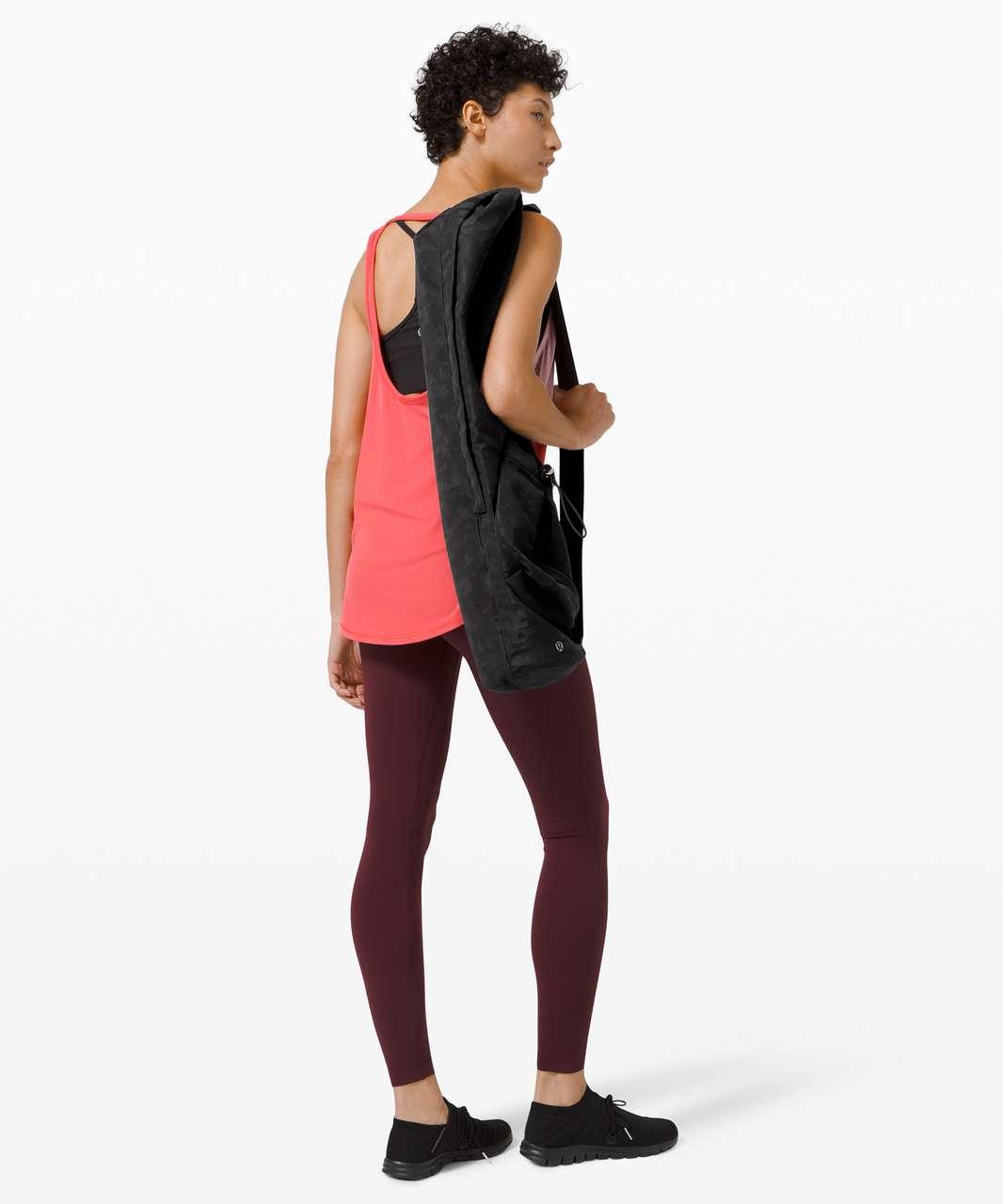 Lululemon The Yoga Mat Bag *16L - Heritage Grid Camo Jacquard Micro Black Deep Coal