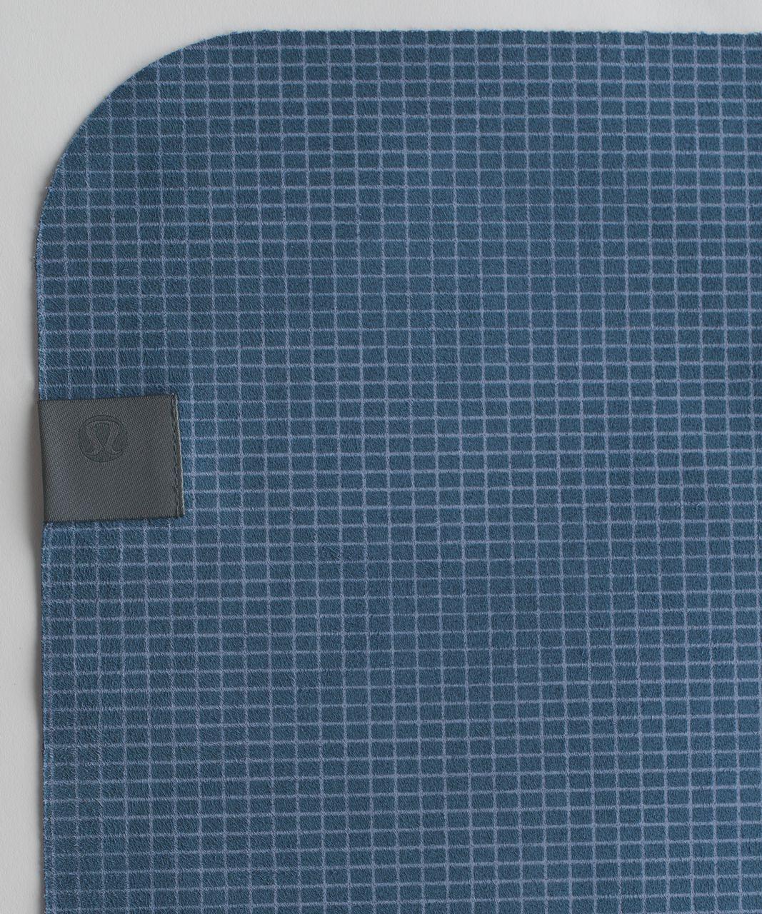 Lululemon The (Big) Towel - Off Grid Tempest Blue Hawk Blue