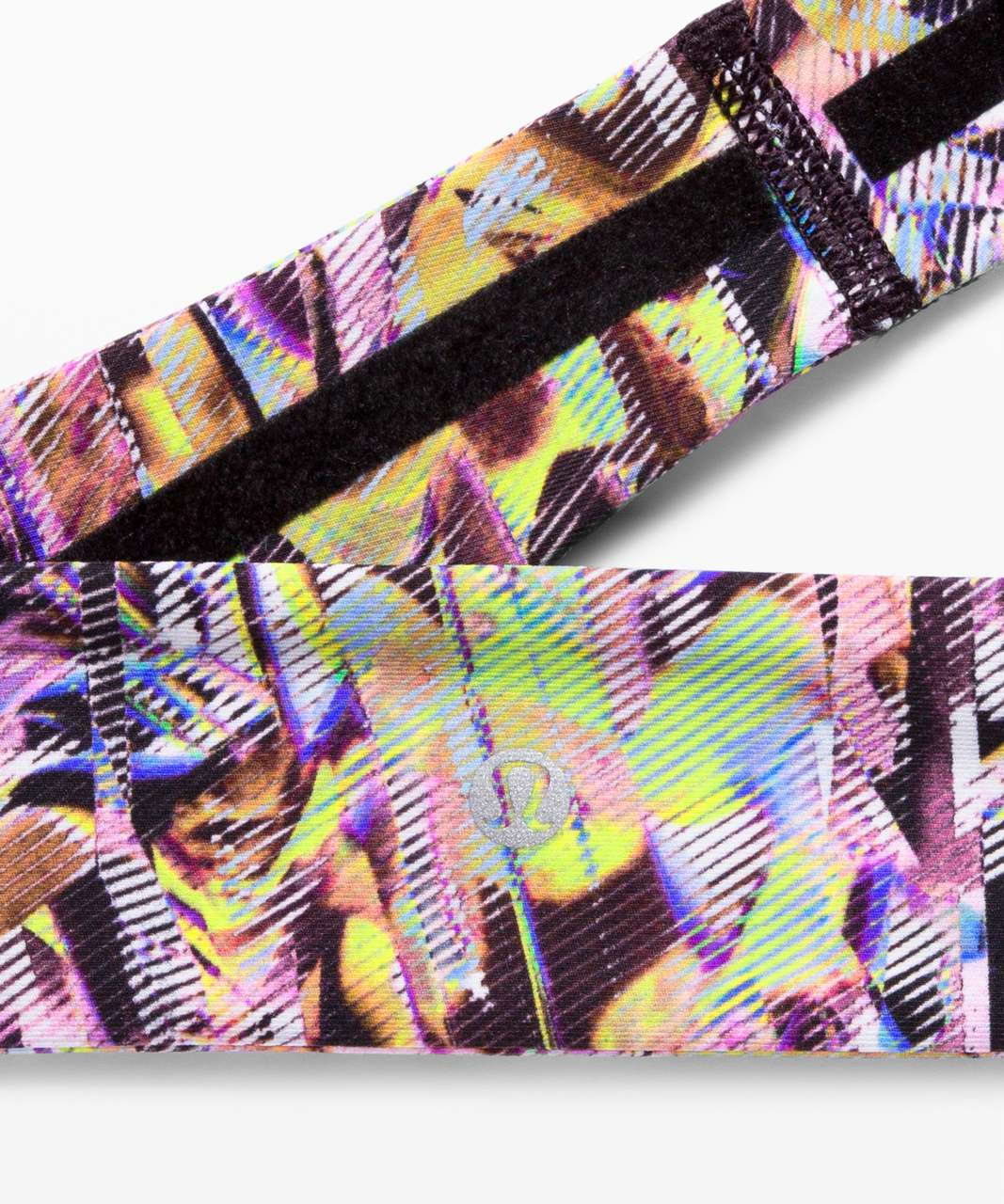 Lululemon Fly Away Tamer Headband II *SeaWheeze - Super Sonic Alpine White Purple Multi