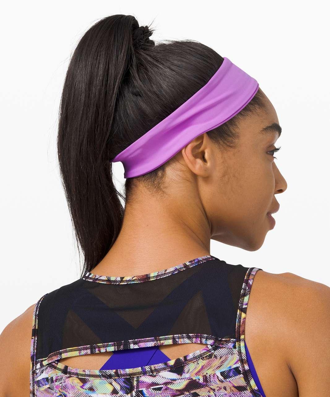 Lululemon Fly Away Tamer Headband II *SeaWheeze - Purple Blossom