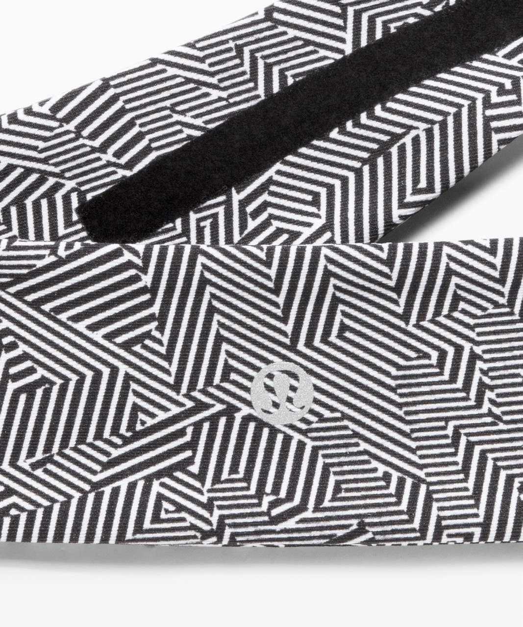 Lululemon Fly Away Tamer Headband II *SeaWheeze - Illusionary White Black