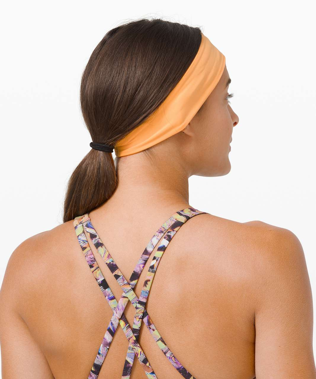 Lululemon Fly Away Tamer Headband II *SeaWheeze - Florid Orange