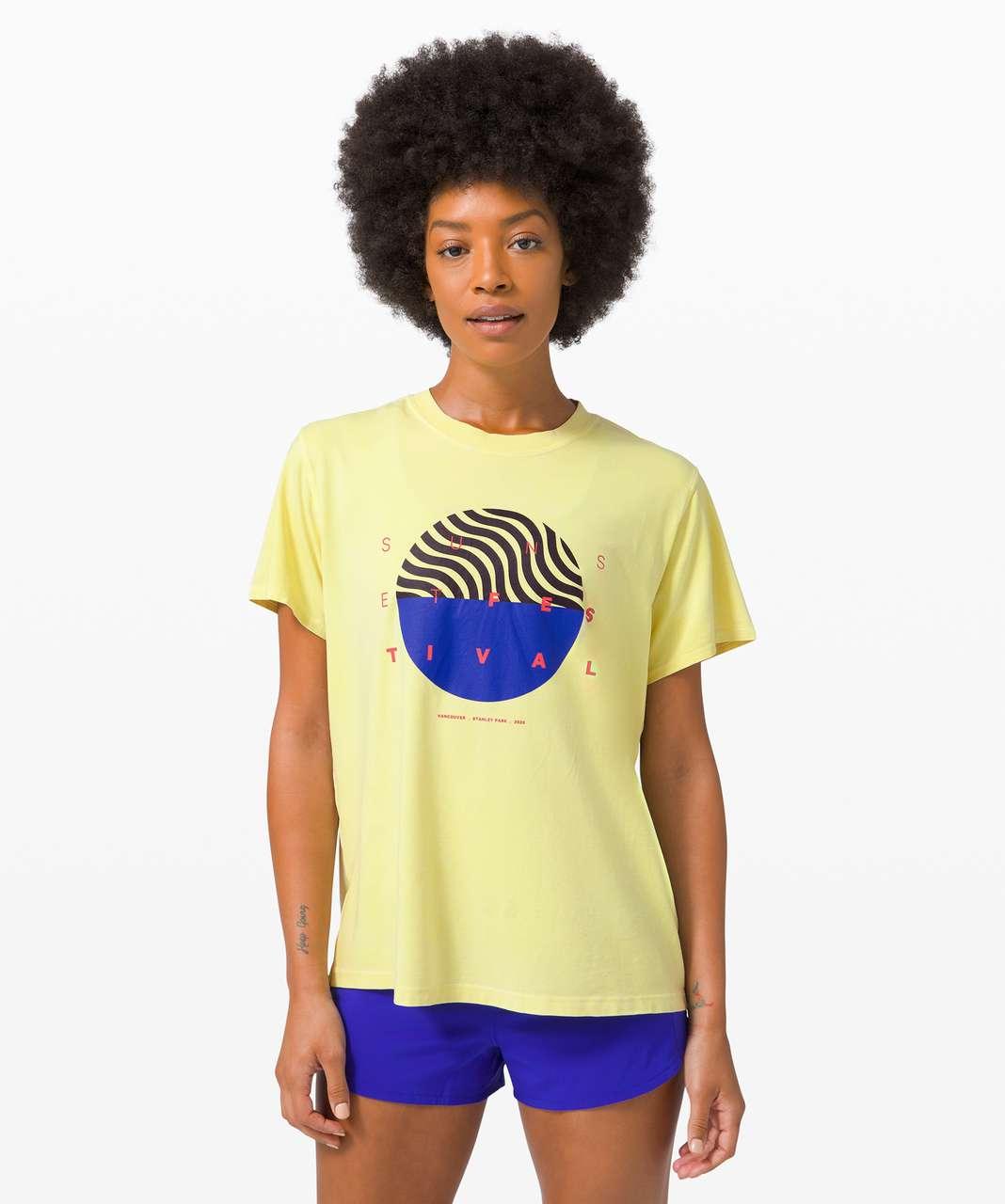 Lululemon All Yours Tee *SeaWheeze - Crackle Wash Sunlight Yellow