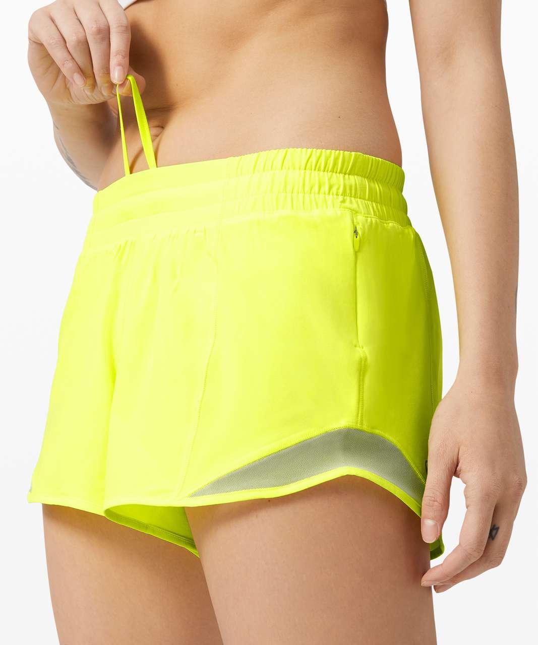 "Lululemon Hotty Hot Short II *Long 4"" - Highlight Yellow"