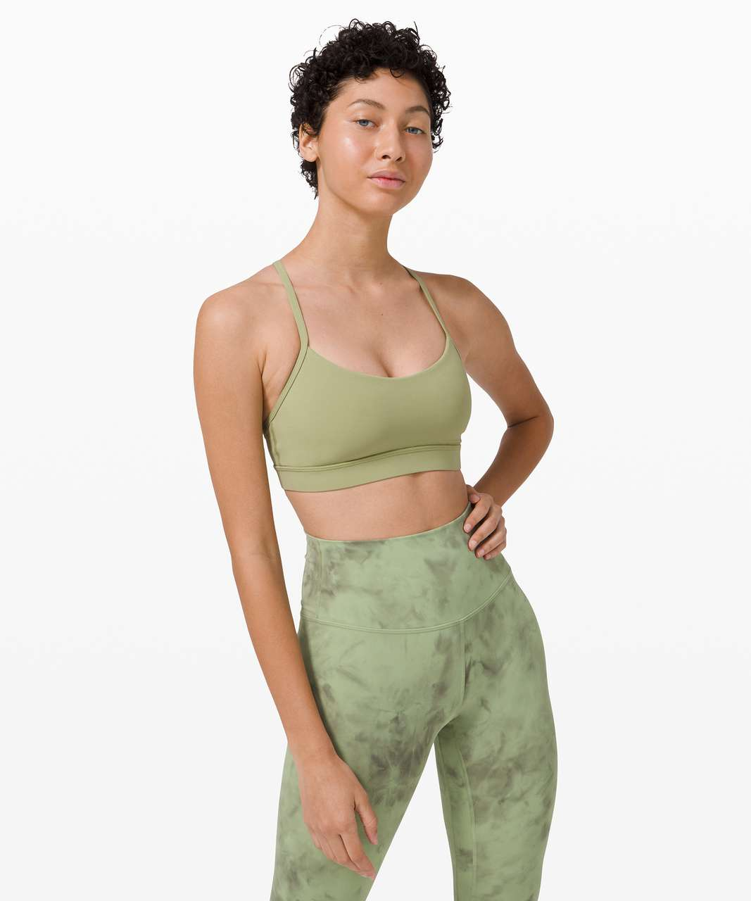 Lululemon Flow Y Bra Nulu *Light Support, B/C Cup - Vista Green