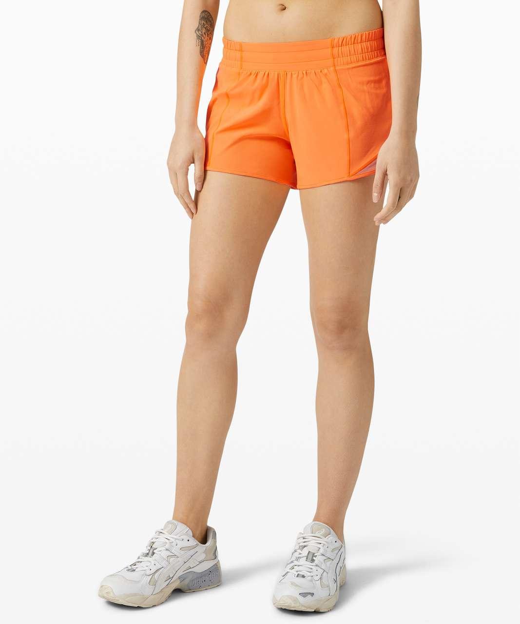 "Lululemon Hotty Hot Short II *Long 4"" - Highlight Orange"