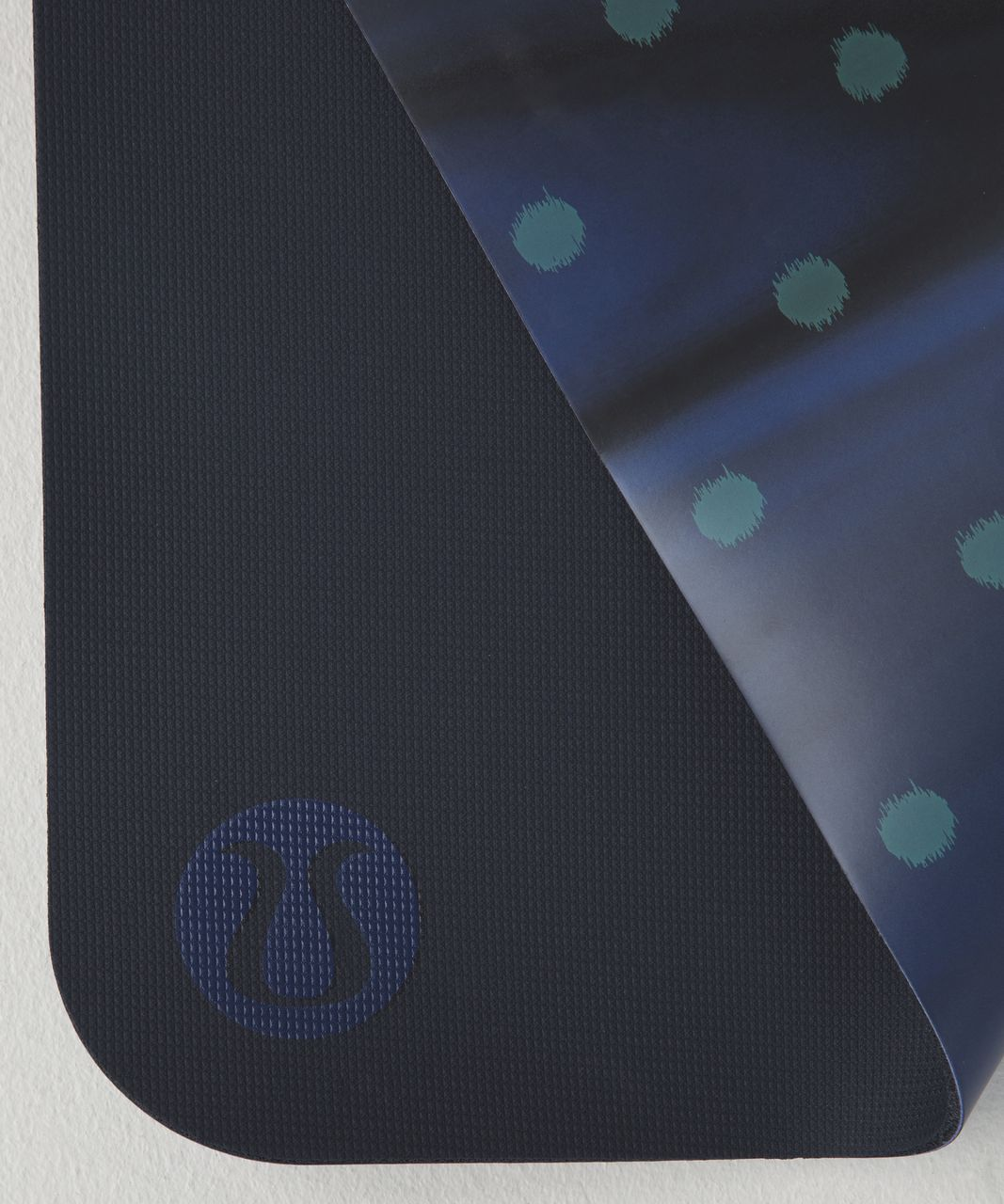 Lululemon The Reversible Mat 5mm - Simply Ghost Dot Arctic Teal Black / Naval Blue