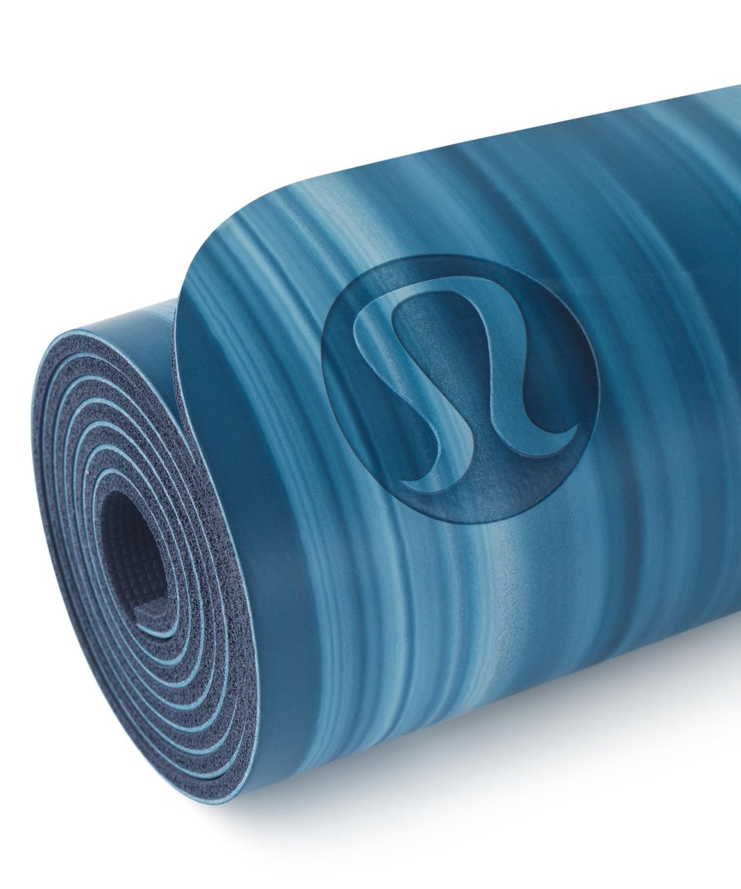 5ee2f42d98 Lululemon The Reversible Mat 5mm - Poseidon / White / Deep Navy - lulu  fanatics