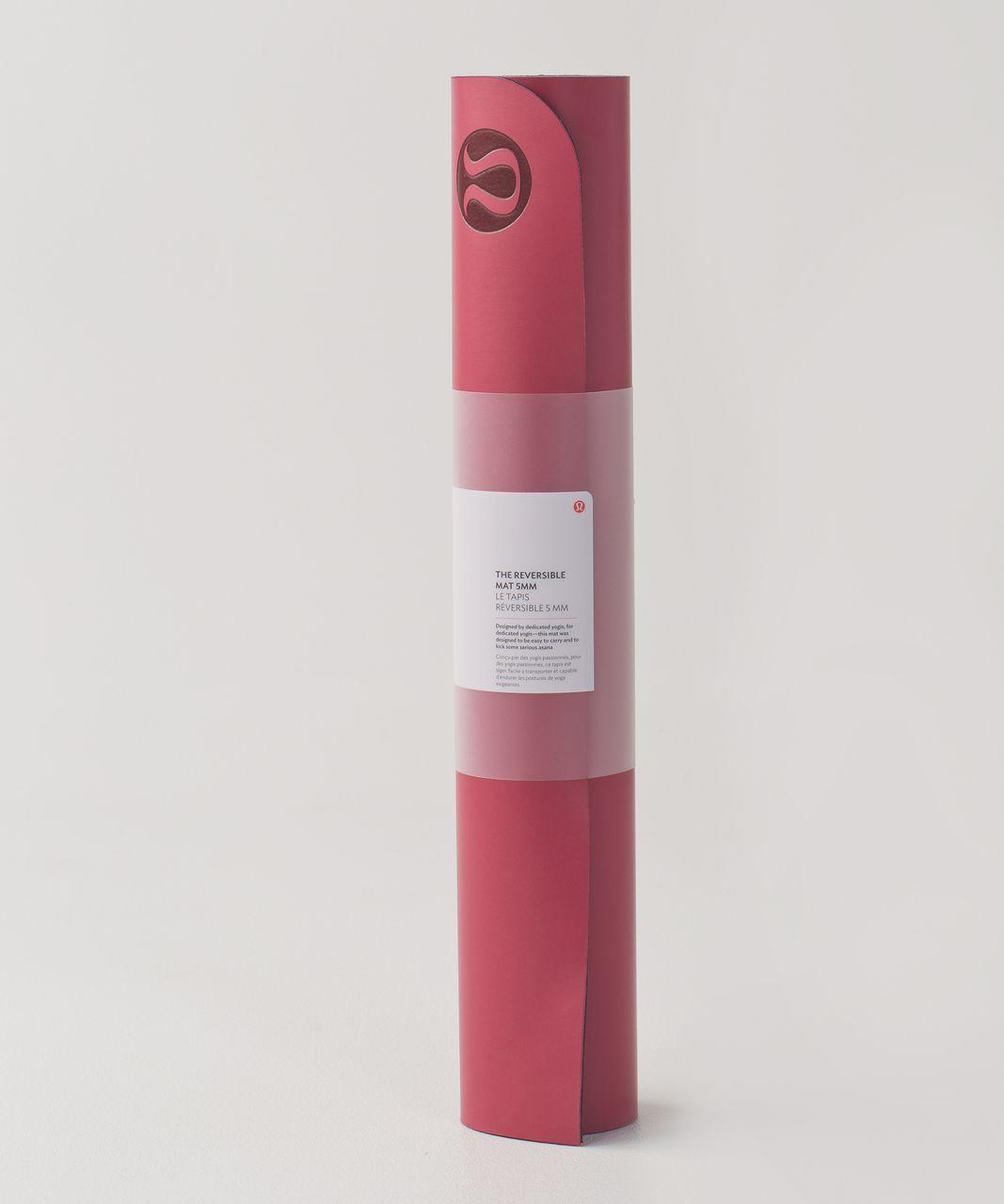Lululemon The Reversible Mat 5mm - Cranberry / Bordeaux Drama