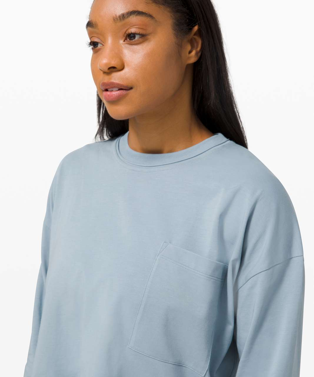 Lululemon Check the Box Long Sleeve - Chambray