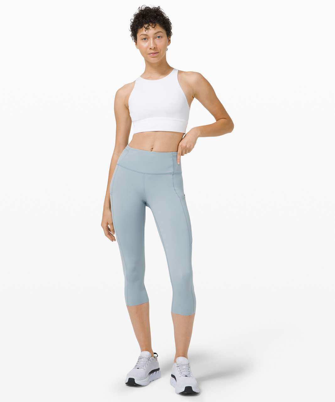 """Lululemon Fast and Free Crop II 19"""" *Non-Reflective - Blue Cast"""