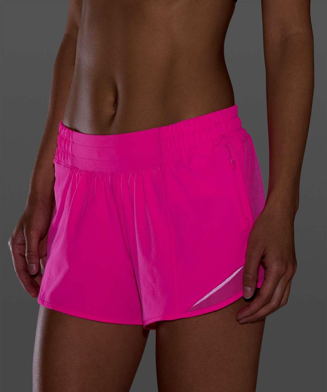 """Lululemon Hotty Hot Short II *Long 4"""" - Pink Highlight"""