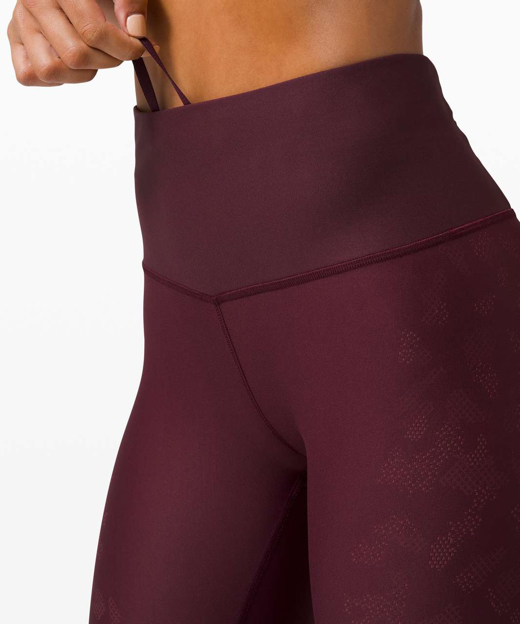 """Lululemon Mapped Out High Rise Tight 28"""" *Camo - Cassis / Smoky Red"""