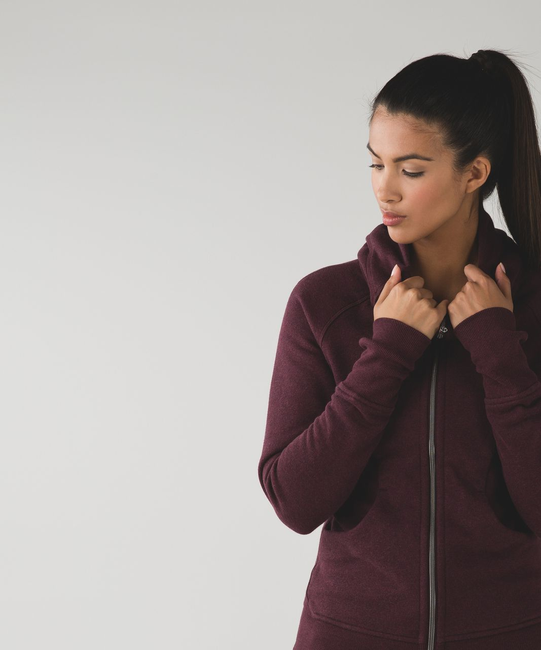 Lululemon Scuba Hoodie III - Heathered Bordeaux Drama