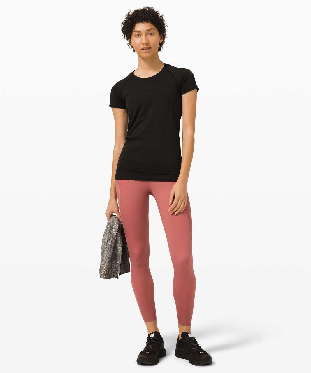 """Lululemon Fast and Free Super High Rise Tight 25"""" Elite - Cherry Tint"""