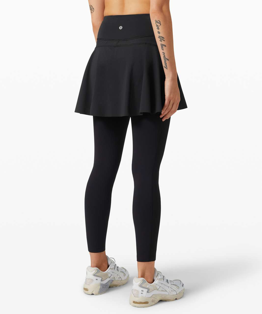 Lululemon Your Serve High Rise Skirt Tight 25 Black Lulu Fanatics