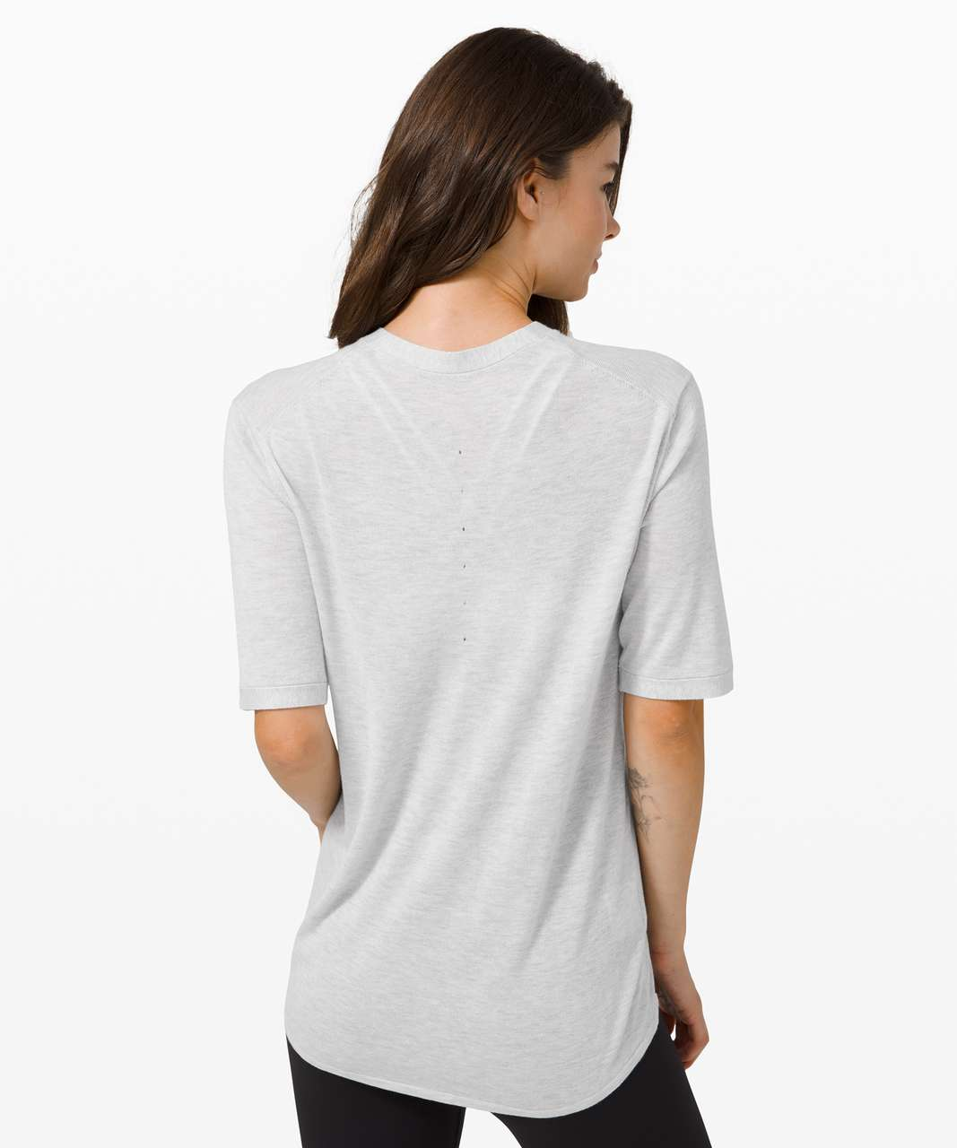 Lululemon Easy Days Short Sleeve - Heathered Core Ultra Light Grey