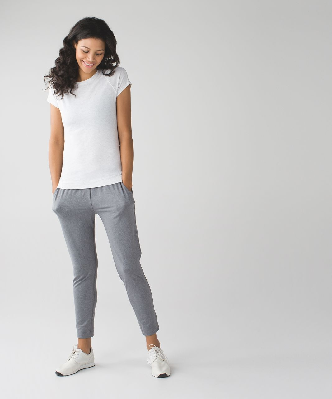 Lululemon Let Be Short Sleeve Tee - Heathered White