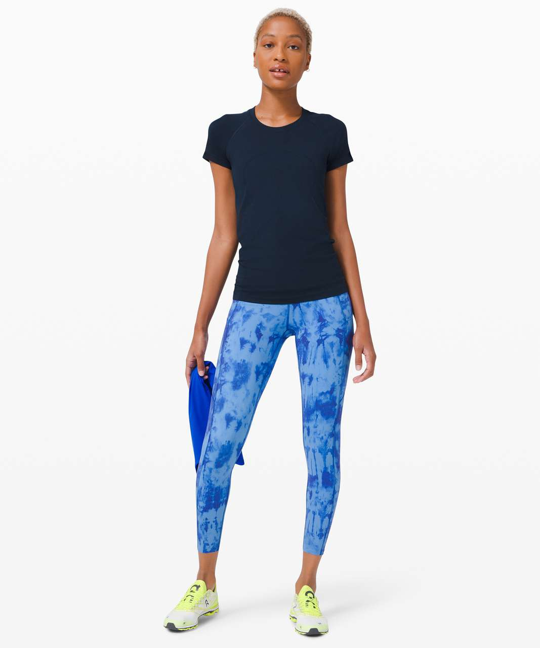 "Lululemon Fast and Free Tight II 25"" *Game Day - Game Day Blue Multi"