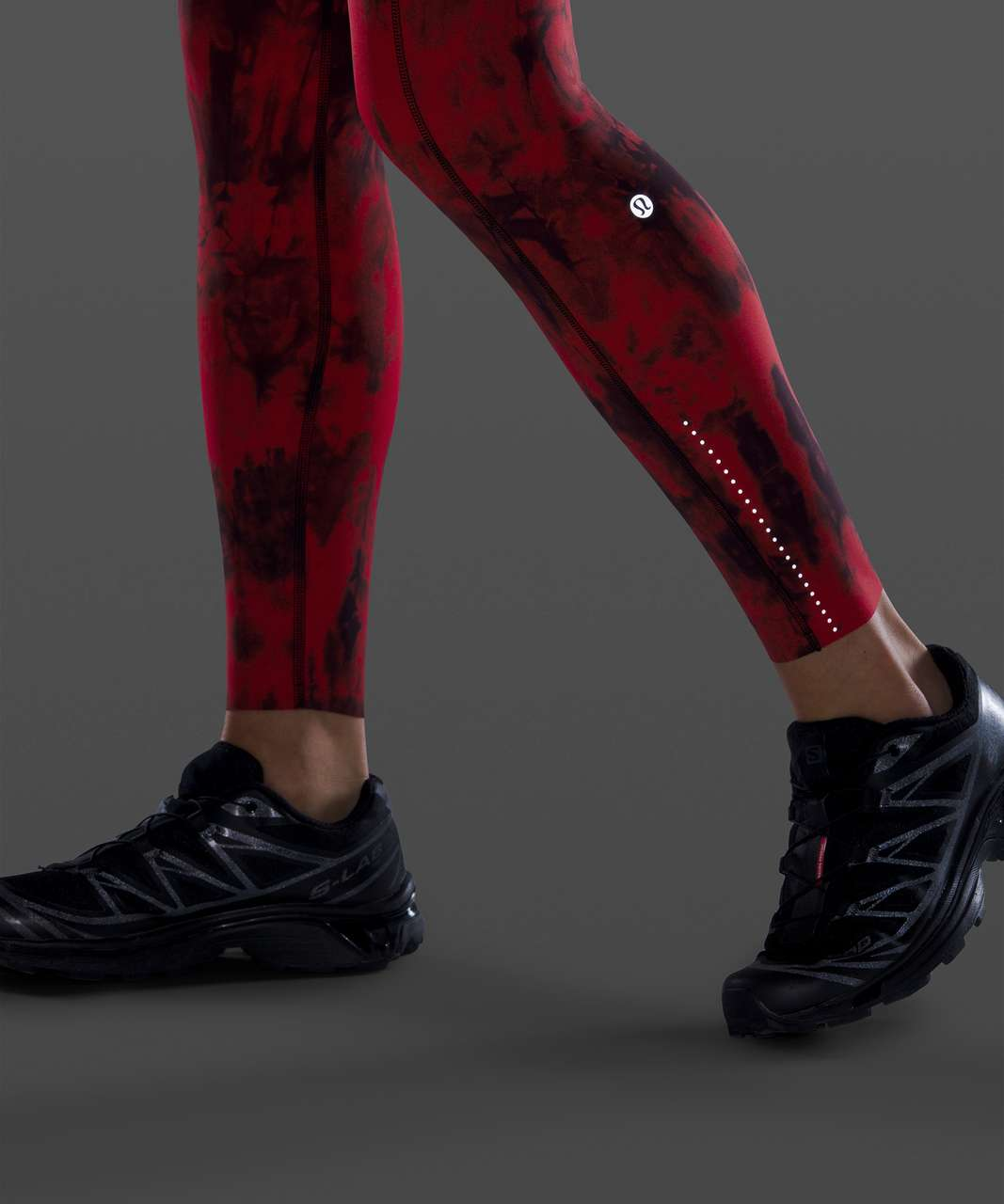 """Lululemon Fast and Free Tight II 25"""" *Game Day - Game Day Red Black Multi"""