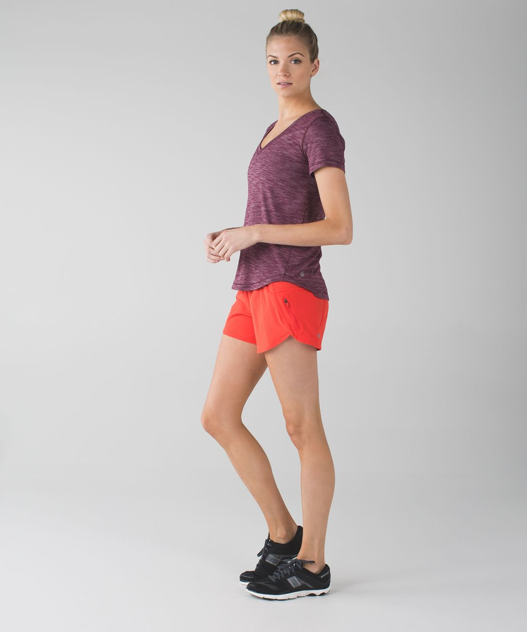 Lululemon Tracker Short III (4-way Stretch) - Alarming / Miss Mosaic Alarming Red Grape
