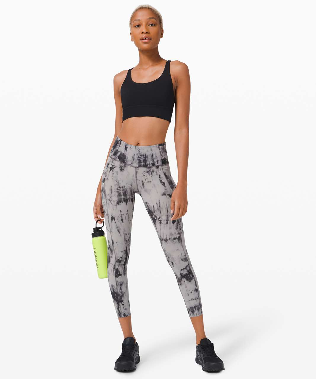"""Lululemon Fast and Free Tight II 25"""" *Game Day - Game Day Dark Chrome Black Multi"""