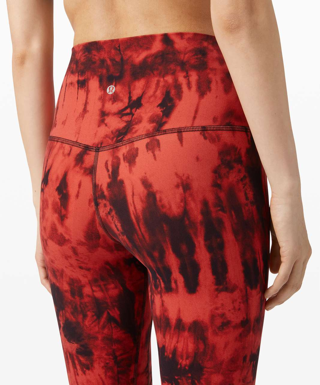 "Lululemon Align Pant II 25"" *Game Day - Game Day Red Black Multi"