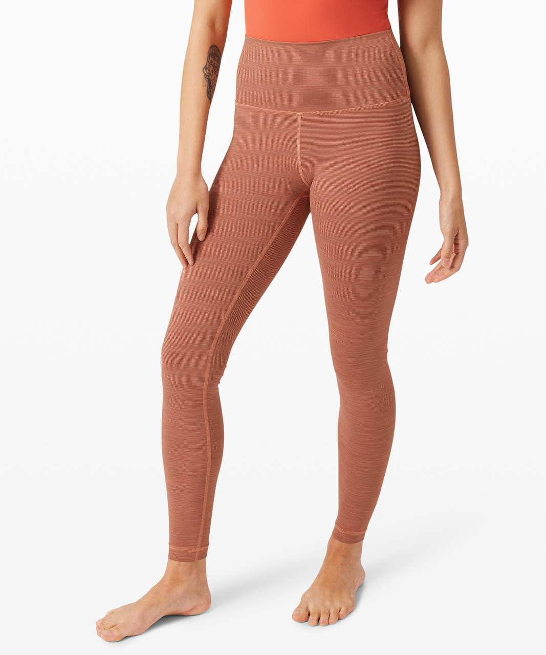"""Lululemon Wunder Under High-Rise Tight 28"""" *Luxtreme - Wee Are From Space Rustic Coral"""