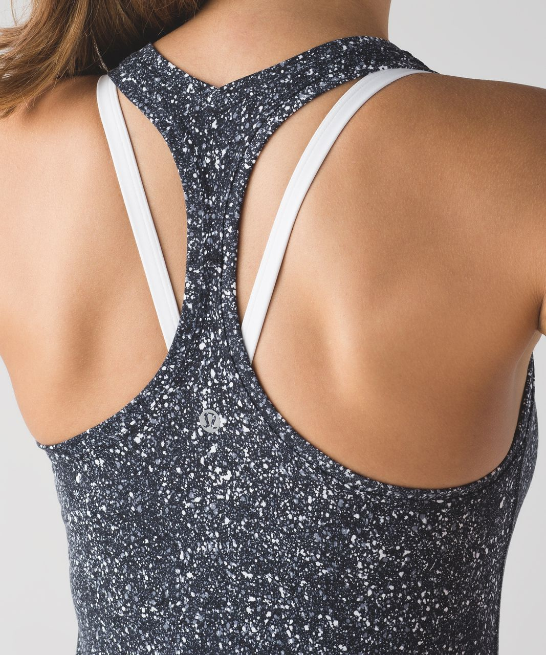 Lululemon Cool Racerback II - Mini Splatter White Black