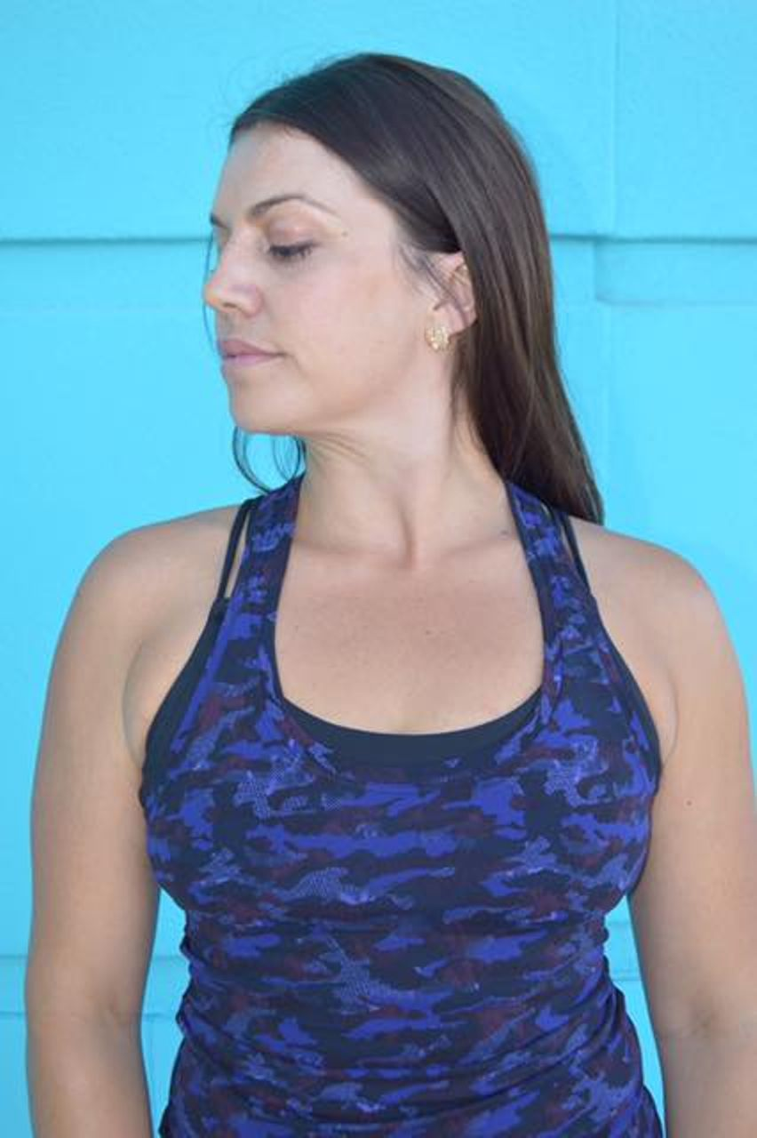 Lululemon Cool Racerback II - Mini Hounds Camo Emperor Blue Black
