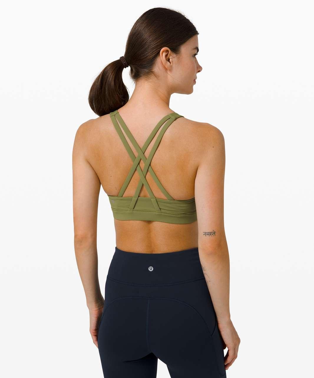 Lululemon Energy Bra High Neck *Medium Support, B–D Cup - Bronze Green