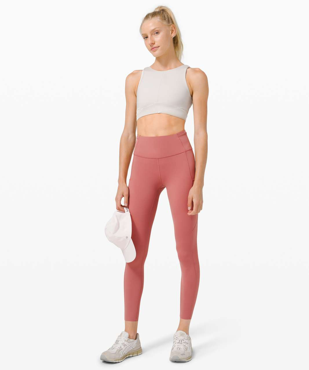 "Lululemon Fast and Free High Rise Tight 25"" *Cool - Cherry Tint"