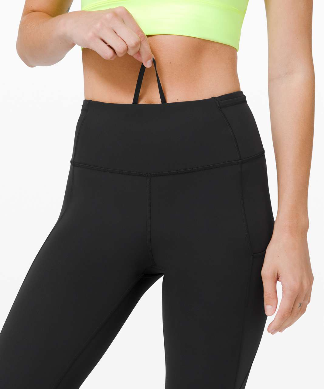 """Lululemon Fast and Free Crop II 19"""" *Non-Reflective Cool - Black"""