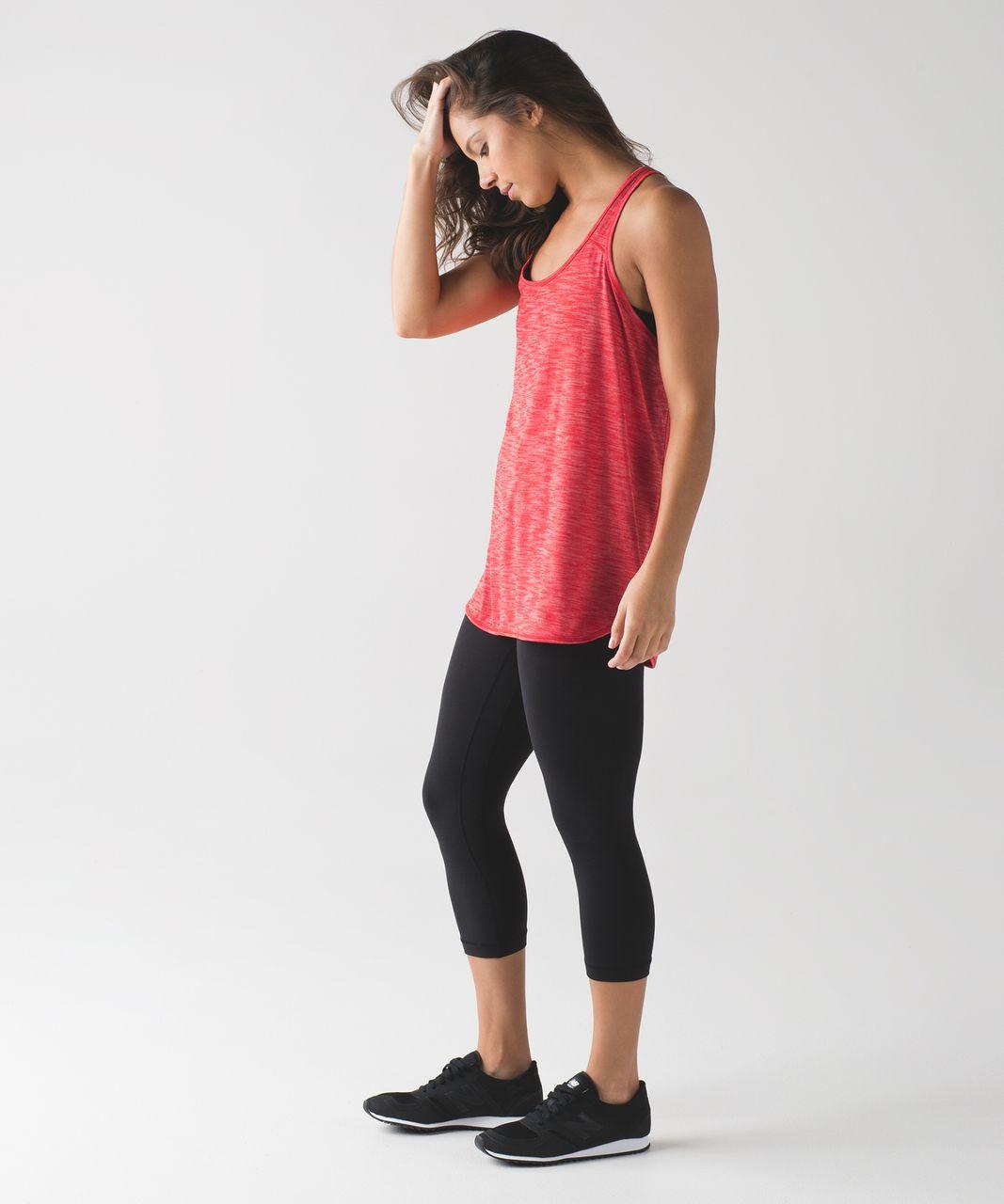 Lululemon Essential Tank - Heathered True Red