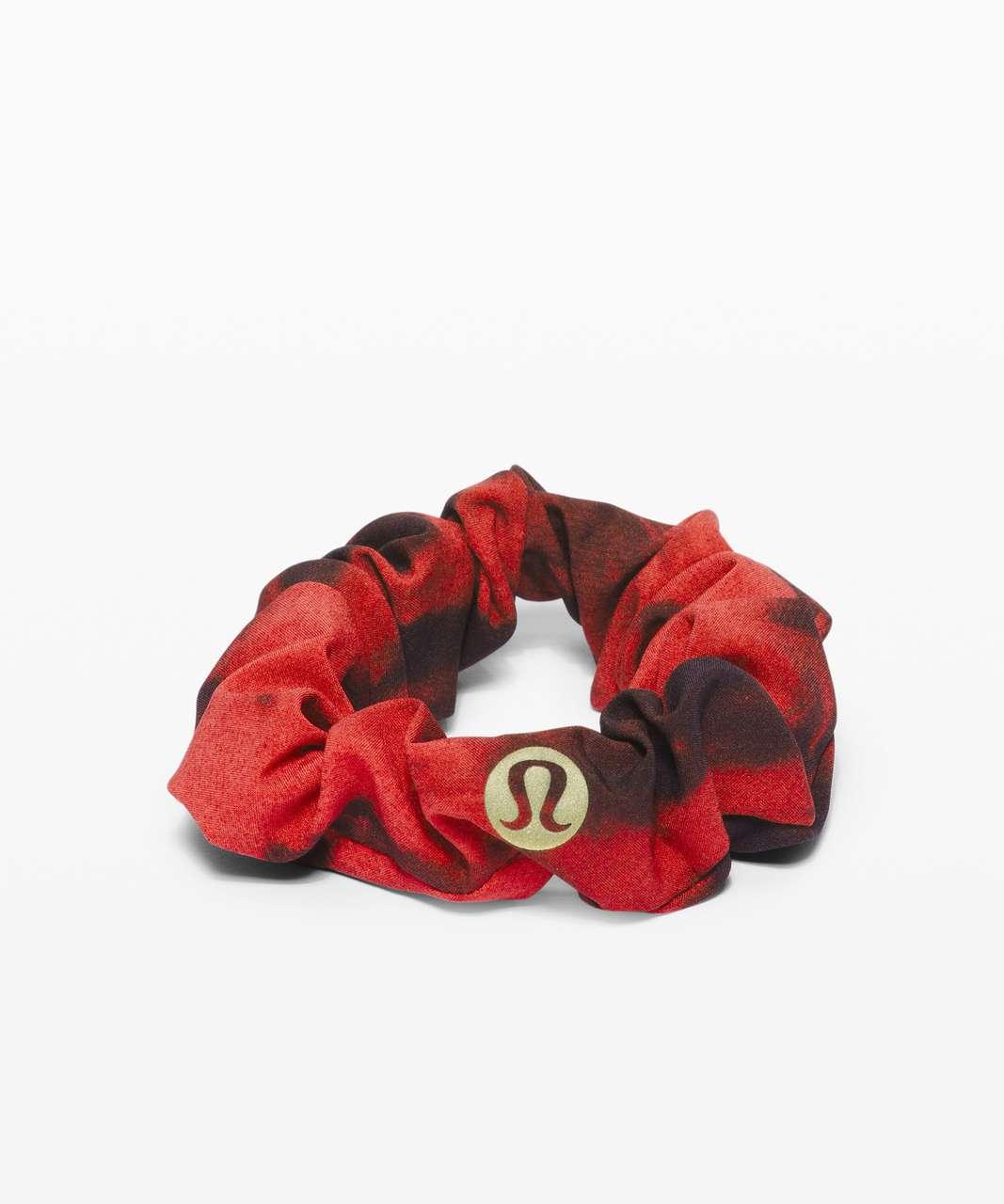 Lululemon Uplifting Scrunchie *Game Day - Game Day Red Black Multi