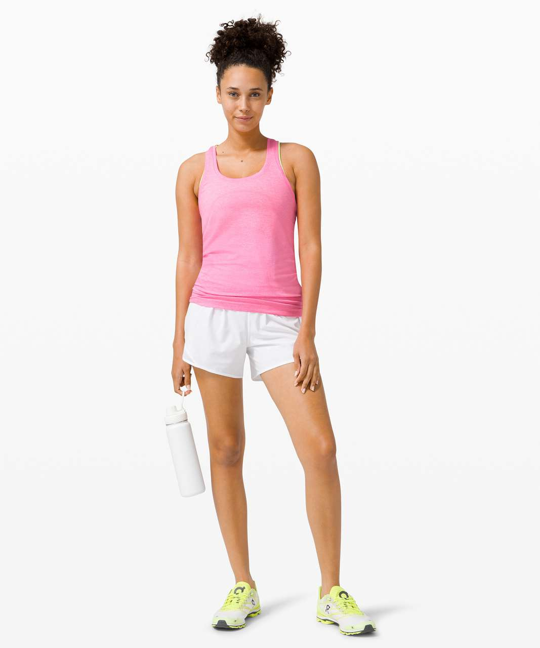 Lululemon Swiftly Tech Racerback 2.0 - Dark Prism Pink / White