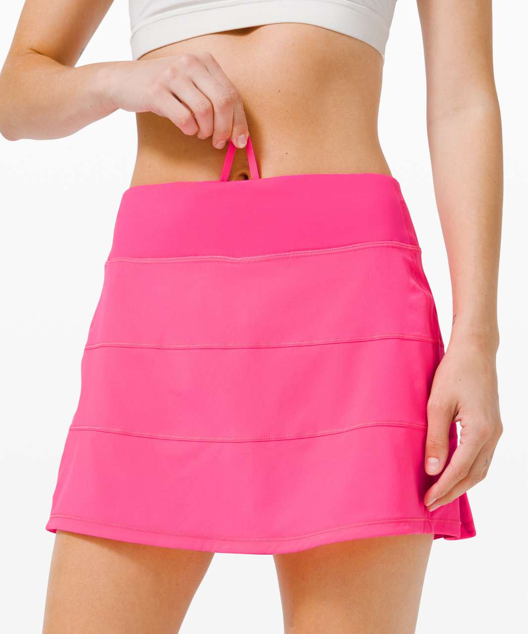 """Lululemon Pace Rival Skirt (Tall) *4-way Stretch 15"""" - Pink Highlight"""