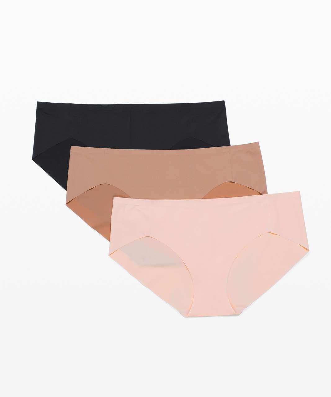 Lululemon Smooth Seamless Hipster 3 Pack - Black / Misty Shell / Soft Sand