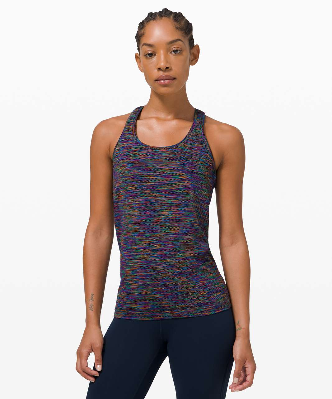 Lululemon Swiftly Tech Racerback 2.0 *Love - Black / Rainbow