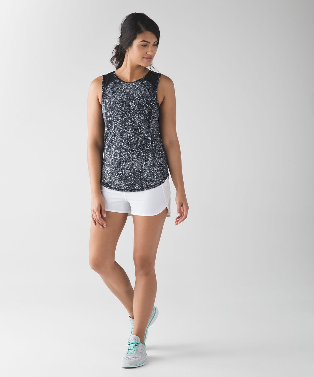 Lululemon Sculpt Tank - Splatter White Black / Black