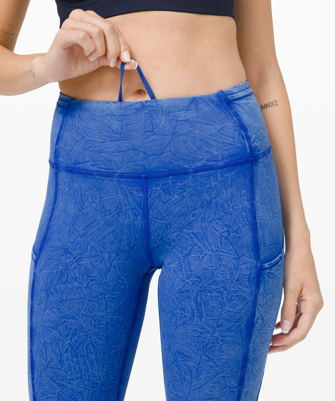 """Lululemon Fast and Free High Rise Tight 25"""" *Ice Dye - Ice Wash Cerulean Blue"""