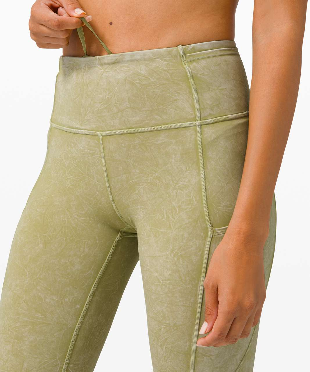"Lululemon Fast and Free High Rise Tight 25"" *Ice Dye - Ice Wash Hazel Green"