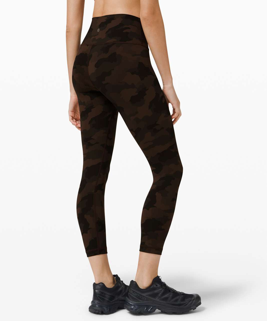 "Lululemon Wunder Under Crop High-Rise *Full-On Luxtreme 23"" - Heritage 365 Camo Brown Earth Multi"