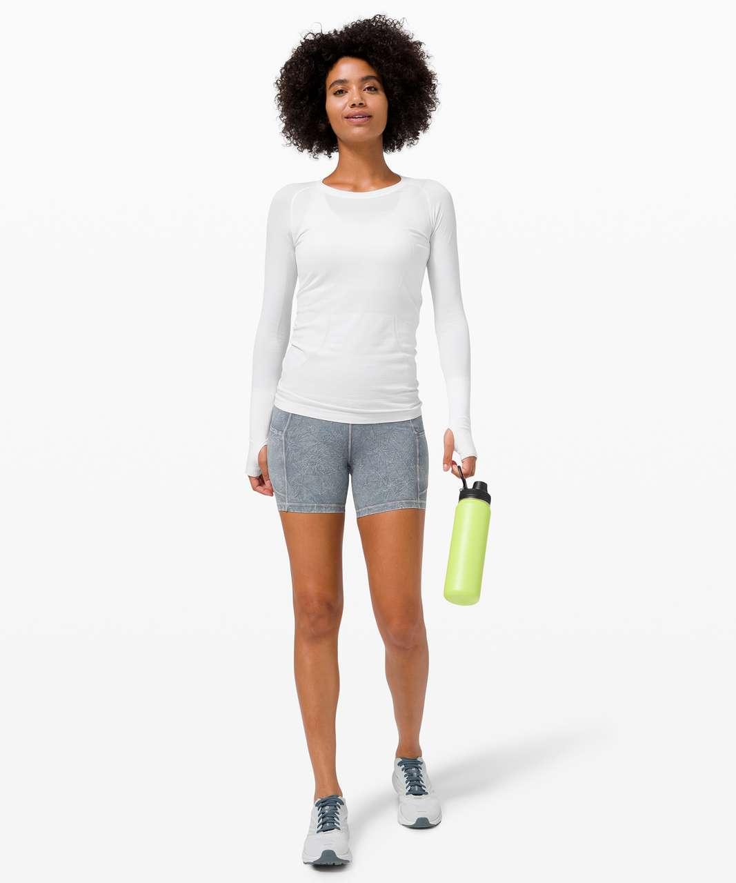 """Lululemon Fast and Free Short 6"""" Ice Dye *Non-Reflective - Ice Wash Asphalt Grey"""