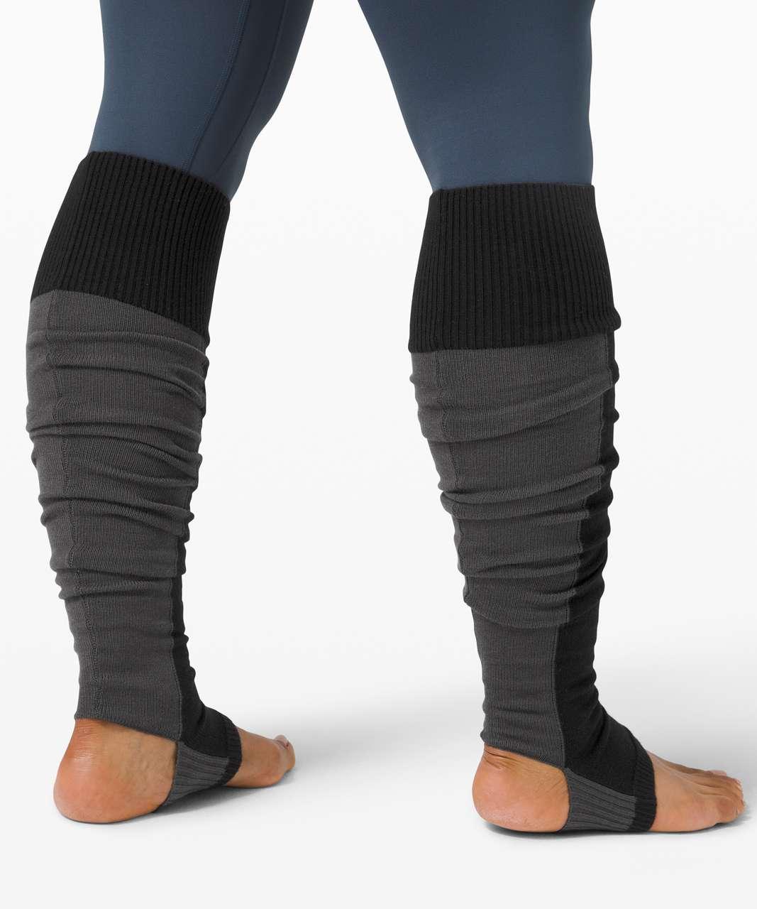 Lululemon Evolution Leg Warmer - Black / Graphite Grey