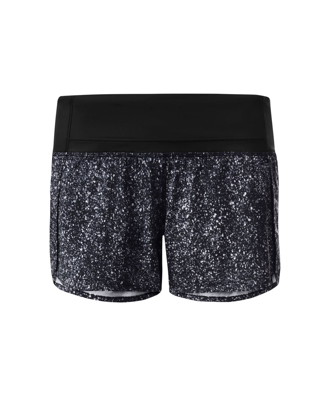 Lululemon Run Times Short - Mini Splatter White Black