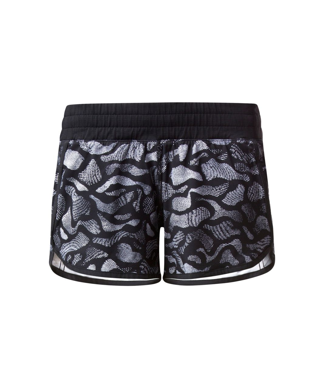 Lululemon Tracker Short IV - Mini Warp White Black / Black