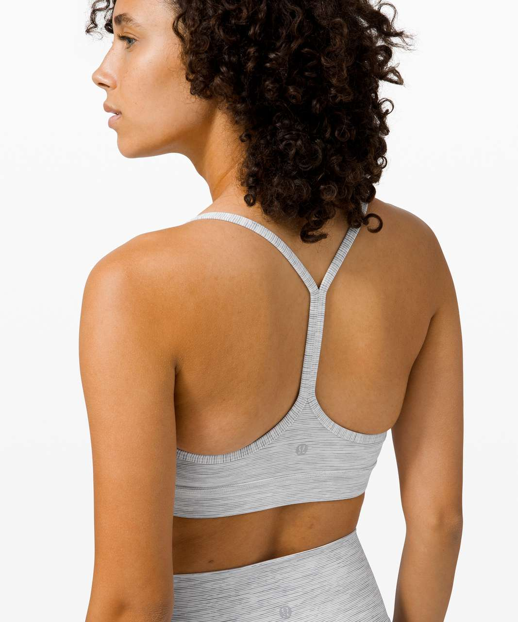 Lululemon Flow Y Bra Nulu *Light Support, B/C Cup - Wee Are From Space Nimbus Battleship