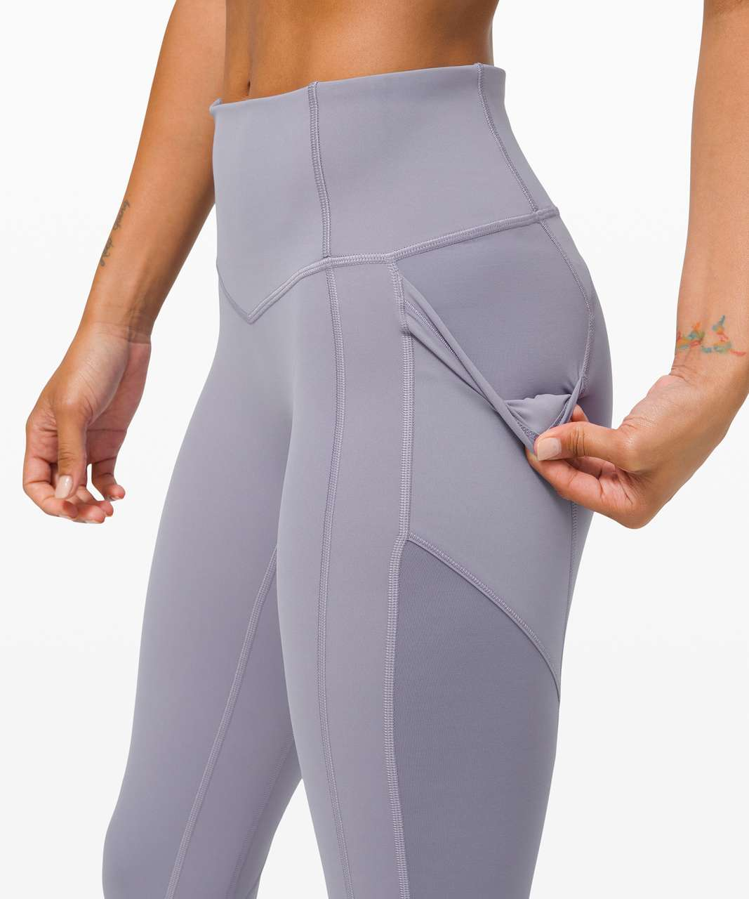 """Lululemon All The Right Places Crop II *23"""" - Peri Purple"""